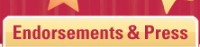 Endorsements & Press